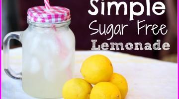 Simple Sugar Free Lemonade