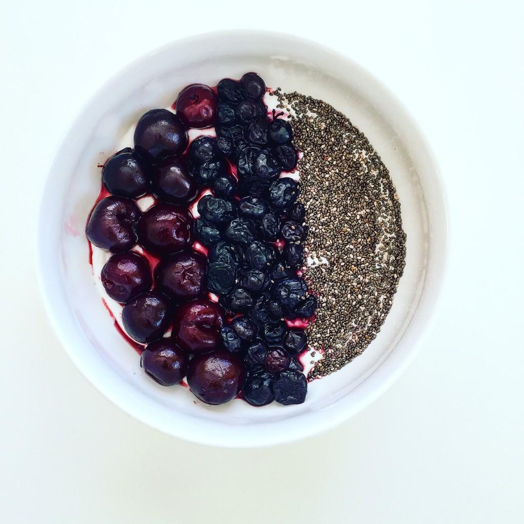 cherry berry chia bowl